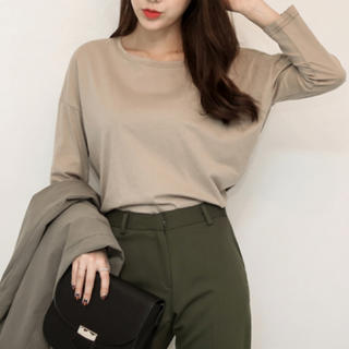 dholic - シンプル ロングTシャツ 韓国ファッション