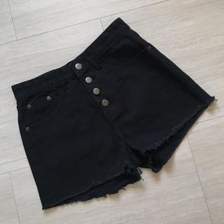 GOGOSING - ハイウエスト ショートパンツ 裾切りっぱなし