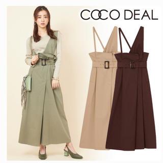 COCO DEAL - タグ付き☆ココディール ☆チノワンショルダーラップスカート