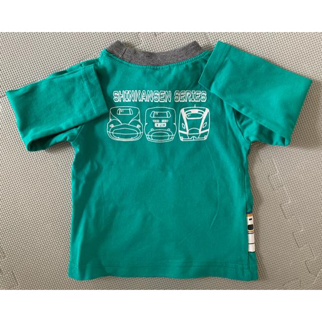 kladskap(クレードスコープ)の新幹線 長袖Tシャツ / タグ表記90サイズ ※実質80サイズ キッズ/ベビー/マタニティのキッズ服男の子用(90cm~)(Tシャツ/カットソー)の商品写真
