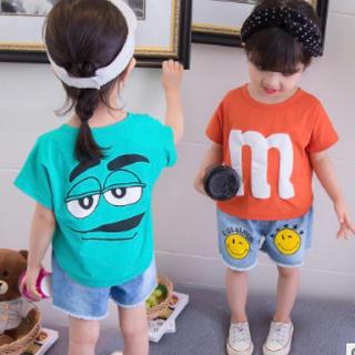 キッズ M'sトップス 韓国子供服 Tシャツ 半袖 男の子男女兼用