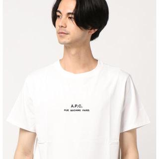 A.P.C - 新品 APC A.P.C. メンズ ロゴ刺繍 半袖 Tシャツ XSサイズ 白