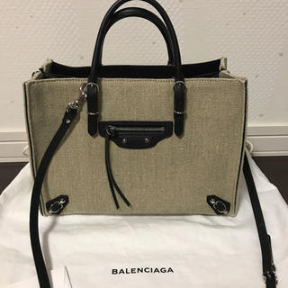 BALENCIAGA BAG - バレンシアガ ペーパーA6 リネン レア 美品