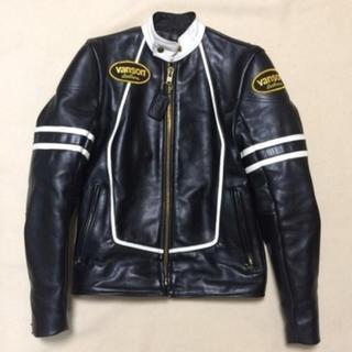 VANSON - VANSON ライダースジャケット シングル 本革 size34