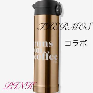サーモス(THERMOS)のヴィクトリアシークレットコラボサーモス水筒ゴールド(タンブラー)