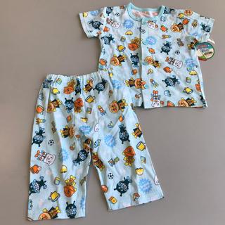 アンパンマン - 95 アンパンマン 前開き ボタン 綿100 パジャマ 半袖 夏物
