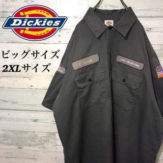 Dickies - 【激レア】ディッキーズ☆企業ワッペン ビッグロゴ ビッグサイズ 半袖ワークシャツ