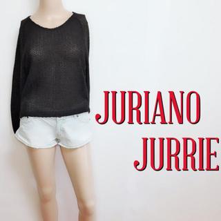 JURIANO JURRIE - おしゃれ着♪ジュリアーノジュリ 薄手 かぎ編みニット♡エモダ マウジー
