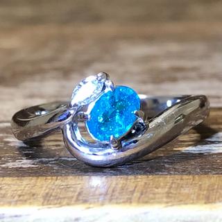 青くて美しいパライバ トルマリンリング