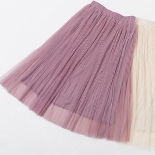 しまむら - プチプラのあや 中桃 チュールスカート レーススカート