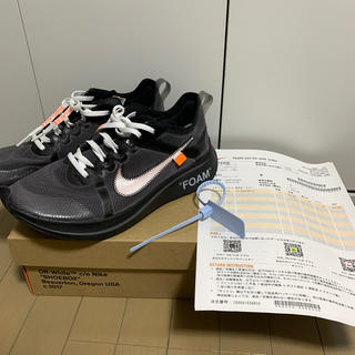 NIKE - Nike OFF WHITE ZOOM FLY the ten 28cm
