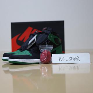 """ナイキ(NIKE)の【値引可】NIKE Air Jordan1 """"Pine Green2.0""""(スニーカー)"""