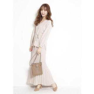 Rirandture - 新品タグ付き リランドチュール 柄編みスカート×ベルテッドニットセット