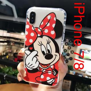ミニーマウス(ミニーマウス)の〖激安〗 iPhone7/8 スマホケース ミニー ✦《クリア》ディズニー(iPhoneケース)