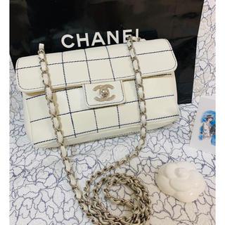 CHANEL - CHANEL ワイルドステッチ☆ネイビーステッチ マトラッセショルダーバッグ