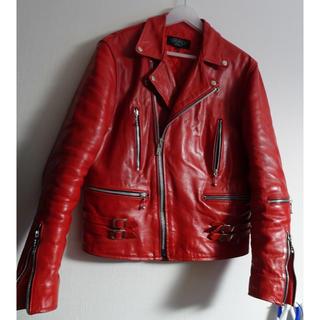 Lewis Leathers - ルイスレザーライトニング タイプ ライダースジャケット 赤