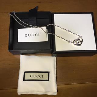 Gucci - GUCCI ボールチェーン ハート ネックレス