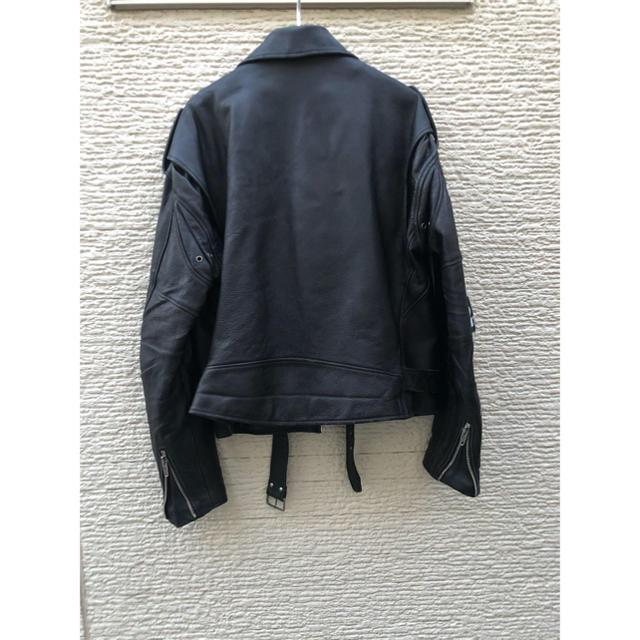 Balenciaga(バレンシアガ)のバレンシアガ BALENCIAGA ロゴ ダブルライダース レザージャケット メンズのジャケット/アウター(ライダースジャケット)の商品写真