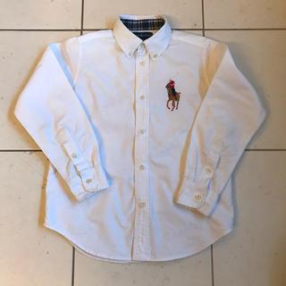 Ralph Lauren - ーレン ブラウス シャツ 130  ビックポロ 白 ビッグポロ