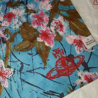 Vivienne Westwood - 🌟最新作春物🌸桜🌸プリントORBハンカチBL🌸ヴィヴィアンウエストウッド
