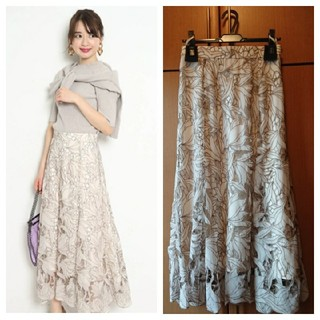 JUSGLITTY - 🍀新品🏷️付き🍀🌷JUSGLITTY🌷レース刺繍フレアスカート