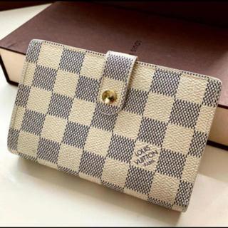 LOUIS VUITTON - 美品 正規品ルイヴィトンアズールがま口 折財布