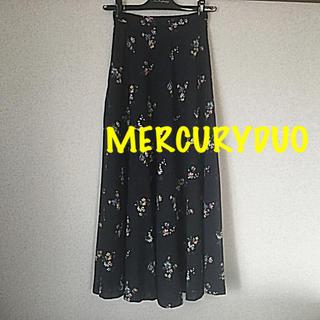 MERCURYDUO - MERCURYDUO ★フラワープリント ロングスカート