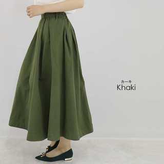 ラインベルト付 フレアスカート スカート 春服 可愛い 大人女性