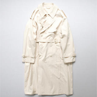 COMOLI - stein DOUBLE SHADE TRENCH COAT