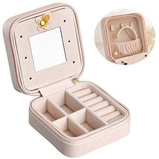 可愛い♡携帯用ジュエリーボックス ピンク 45