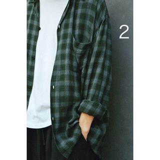 COMOLI - COMOLI 20ss レーヨン オープンカラーシャツ グリーン 2