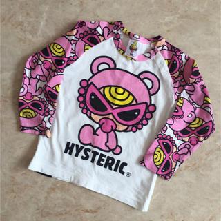 HYSTERIC MINI - テディ ラグラン長袖Tシャツ