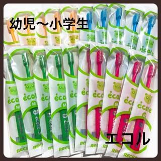 エコル20本《赤⑤緑⑤青⑤黄⑤》歯科医院専売子供歯ブラシ