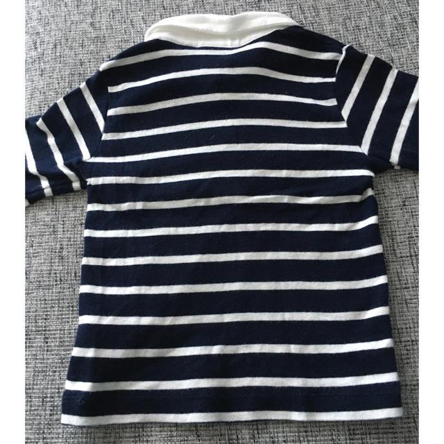 PETIT BATEAU(プチバトー)の美品 プチバトー petit bateau トップス  ロンT ボーダー 襟付き キッズ/ベビー/マタニティのベビー服(~85cm)(Tシャツ)の商品写真