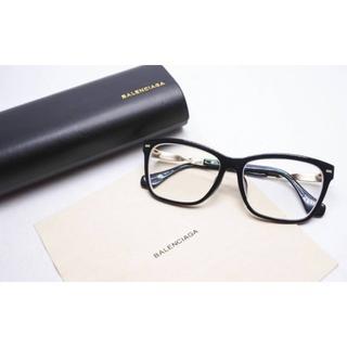 Balenciaga - BALENCIAGA眼鏡5014ブラックゴールド度なし 中古12529 正規品