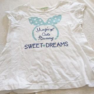 サンカンシオン(3can4on)の3can4on 110 Tシャツ 白 夏 半袖 女の子(Tシャツ/カットソー)