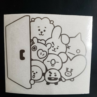 BT21 カッティングステッカー③