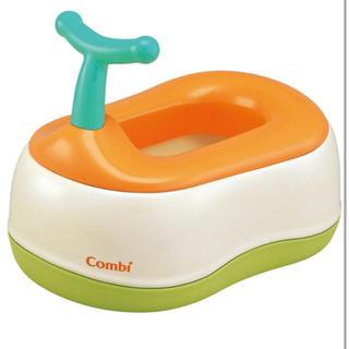 combi - combi ベビーレーべル おまるでステップ レーベルオレンジ おまる 補助便座