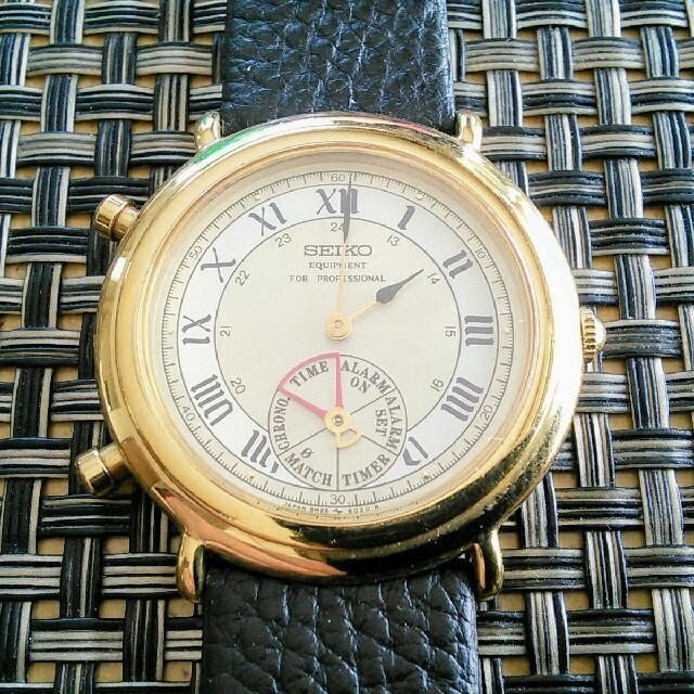 SEIKO(セイコー)の激レア! SEIKO エクイップメント アラームクロノグラフ  スピードマスター メンズの時計(腕時計(アナログ))の商品写真