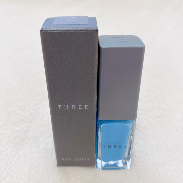 THREE(スリー)のTHREE スリー ネイルポリッシュ 23 ブルー サックス コスメ/美容のネイル(マニキュア)の商品写真
