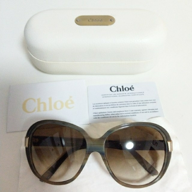 Chloe(クロエ)のChloe カーキ サングラス レディースのファッション小物(サングラス/メガネ)の商品写真
