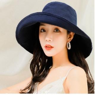 UVカット幅広帽子 女優帽