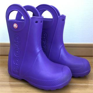 crocs - クロックス  長靴 ムラサキ C13(19cm)