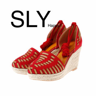 スライ(SLY)の新品★ レースアップサンダル ★SLY スライ ザラ アングリッド ジーナシス(ハイヒール/パンプス)