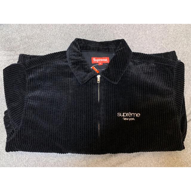 Supreme(シュプリーム)のSupreme Wide Wale Corduroy Jacket 黒 Mサイズ メンズのジャケット/アウター(ブルゾン)の商品写真