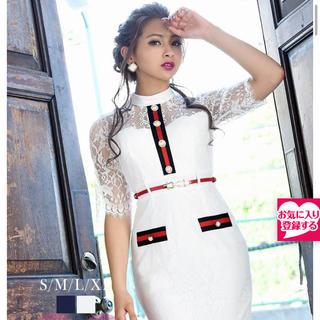 TIKA ゆきぽよ 白ドレス キャバドレス