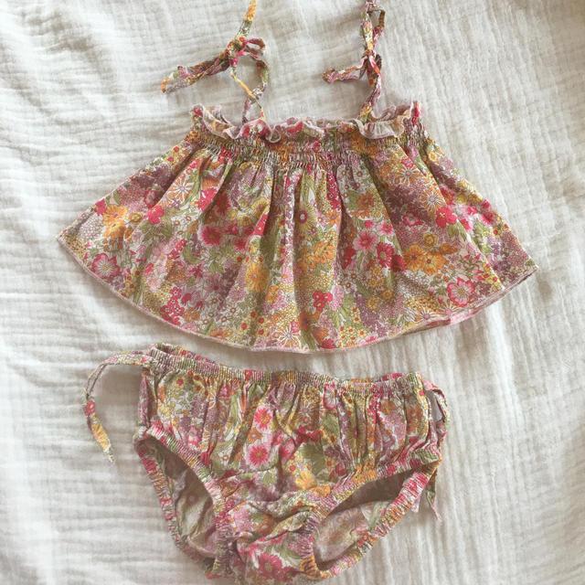 Bonpoint(ボンポワン)のフランス子供服 ローラコクリコ セットアップ 18m キッズ/ベビー/マタニティのベビー服(~85cm)(タンクトップ/キャミソール)の商品写真