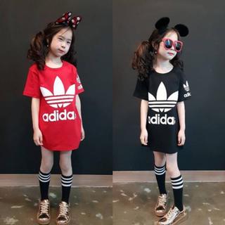 韓国子供服Tシャツワンピ