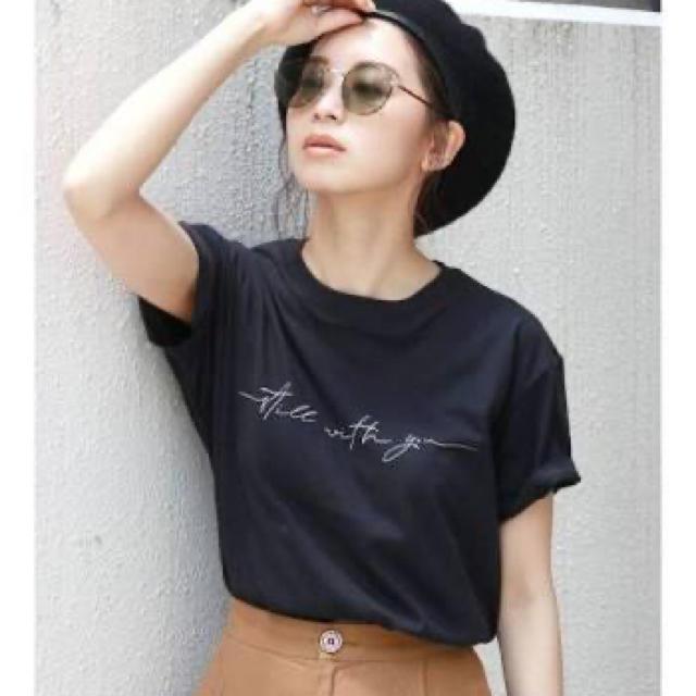 Ungrid(アングリッド)のungrid メッセージロゴプリントtee レディースのトップス(Tシャツ(半袖/袖なし))の商品写真