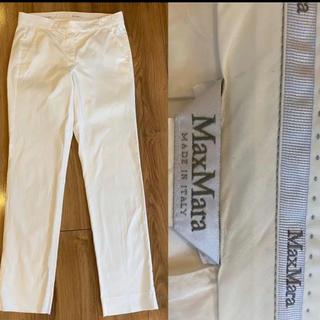 Max Mara - Max Mara マックスマーラ パンツ 白 38